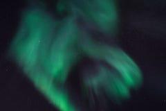 De polaire Noordelijke aurora borealislichten in Noorwegen Svalbard Royalty-vrije Stock Afbeeldingen