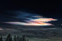 De polaire Stratosferische van het de Winterlandschap van de Wolkenhemel Foto Art Nature Beautiful in openlucht Royalty-vrije Stock Afbeeldingen