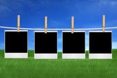 De polaroid- Spaties van de Film in openlucht Stock Afbeelding