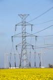 De polen van de elektriciteit royalty-vrije stock fotografie