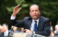 De politicus Francois Hollande van Frankrijk Royalty-vrije Stock Foto