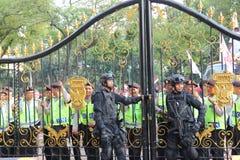 De politie en de Presidentiële Wacht Stock Fotografie