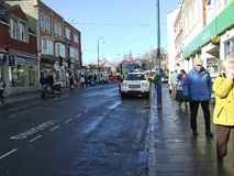 De politie komt ongevallenswanage Dorset aan Royalty-vrije Stock Foto's