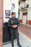 De Politie van de de Stadsstraat van Panama Stock Fotografie