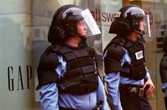 De Politie van de rel royalty-vrije stock afbeeldingen