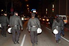 De Politie van de rel Stock Afbeeldingen