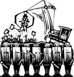 De Politie van het protest stock illustratie