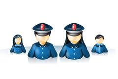 De politie van Internet van het pictogram Stock Fotografie