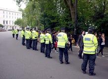 De politie van Londen tijdens een demonstratie royalty-vrije stock afbeelding