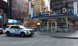 De Politieafdeling van New York, NYPD, Times Square, NYC, de V.S. stock afbeelding