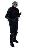 De politieagent van de rel Stock Foto