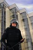 De politieagent van de rel Stock Fotografie