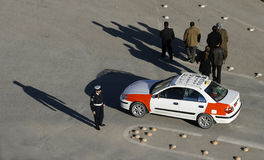 De Politieagent van het verkeer Royalty-vrije Stock Afbeeldingen
