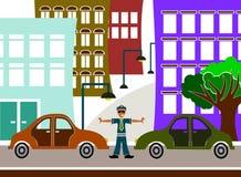 De politieagent van het verkeer Stock Foto