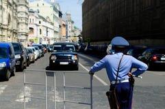 De politieagent van Moskou op plicht Stock Foto's