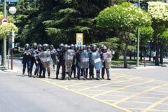 De politieagenten van de rel Royalty-vrije Stock Fotografie
