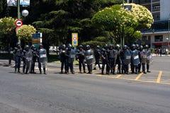 De politieagenten van de rel Stock Afbeeldingen