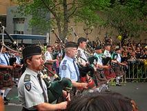 De Politiebagpipers RWC 2011 van Auckland Kampioenenparade Stock Foto's
