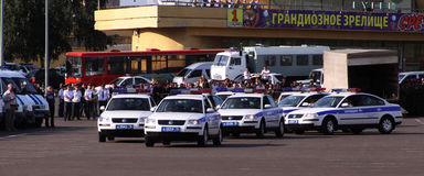 De politiedagen van Tatarstan. De politie van de weg Royalty-vrije Stock Foto's