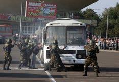 De politiedagen van Tatarstan. Verlossing Stock Foto's