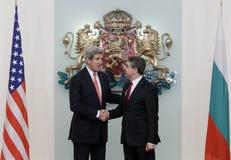 De Politiek John Kerry van Bulgarije de V.S. Royalty-vrije Stock Foto's