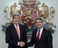 De Politiek John Kerry van Bulgarije de V.S. Stock Afbeelding