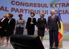 De politiek van Roemenië - Sociaal Democratisch partijcongres royalty-vrije stock foto