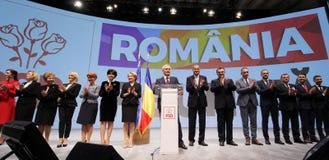 De politiek van Roemenië - Sociaal Democratisch partijcongres stock fotografie