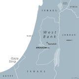 De politieke kaart van Cisjordanië en van Gazastrook vector illustratie