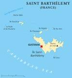 De Politieke Kaart van heilige Barthelemy royalty-vrije illustratie