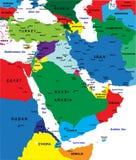 De politieke kaart van het Midden-Oosten Stock Fotografie