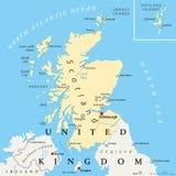De politieke kaart van Schotland Royalty-vrije Stock Foto