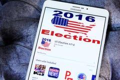 De politieke verkiezing 2016 app van de V.S. Stock Fotografie