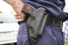 De politieman `s holsten met Royalty-vrije Stock Foto