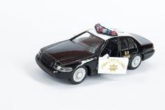 De politiewagen van het stuk speelgoed royalty-vrije stock afbeeldingen