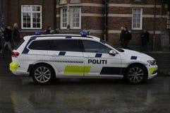 DE POLITIEWAGEN VAN POLITI BIL _DANISH stock foto