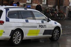 DE POLITIEWAGEN VAN POLITI BIL _DANISH royalty-vrije stock foto