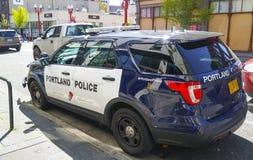 De Politiewagen van Portland - PORTLAND - OREGON - APRIL 16, 2017 stock foto