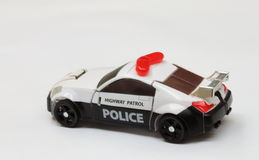 De politiewagenmodel van de schaal stock afbeeldingen