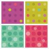 De polka-punt herhaalt patronen (naadloze achtergronden) Royalty-vrije Stock Foto