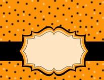 De polkaachtergrond van Halloween Stock Afbeeldingen