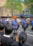 De Polynesische messing het marcheren Parade van bandrwc 2011 Kampioenen Stock Afbeeldingen