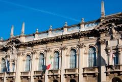 De Polytechnische Universitaire bouw van Milaan in een mooie dag royalty-vrije stock afbeelding