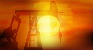 De Pomp van de olie royalty-vrije illustratie