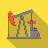 De pomp van de olie Olie enig pictogram in het vlakke Web van de de voorraadillustratie van het stijl vectorsymbool vector illustratie