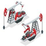 De pomp van de olie Van de het booreilandenergie van de oliepomp de industriële machine voor aardolie Industrie van de olie en va Stock Foto's