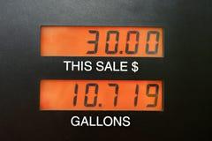 De pomp van het benzinestation Stock Afbeeldingen