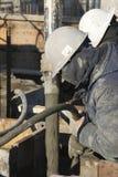 De pomp van het cement in actie Stock Fotografie
