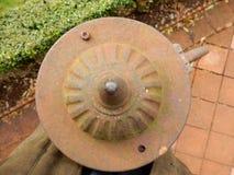 De pomp van het metaalgietijzer Stock Foto