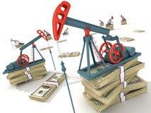 De pompen van de olie Royalty-vrije Stock Afbeelding